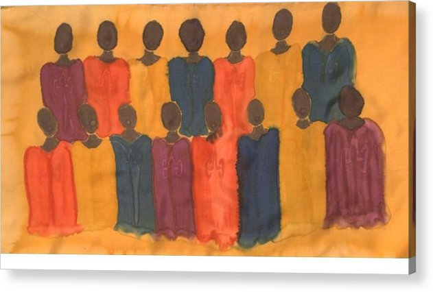Choir Acrylic Print featuring the painting Choir by Christine Davis