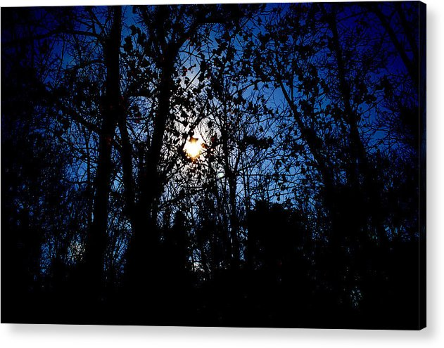 Moon Acrylic Print featuring the photograph Cold Moon by Brandon Wernke
