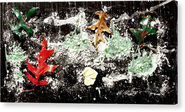Acrylic Print featuring the painting Colorful Leaves by Biagio Civale