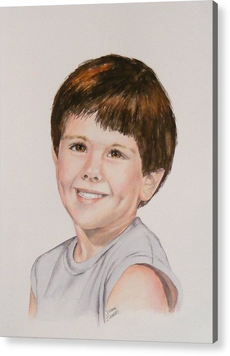 Portrait Acrylic Print featuring the painting Commissioned Portrait 1 by Diane Ziemski
