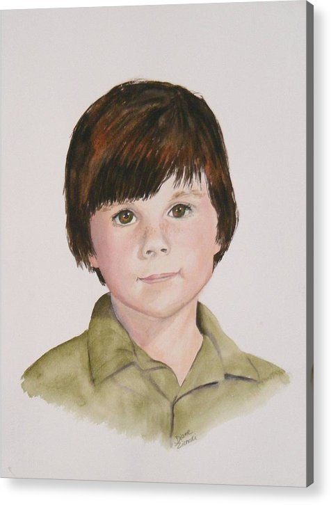 Portraits Acrylic Print featuring the painting Commissioned Portrait 2 by Diane Ziemski