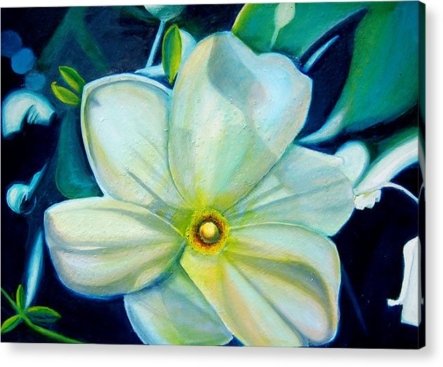Flower Acrylic Print featuring the painting Dappled Lights by Leonard Aitken