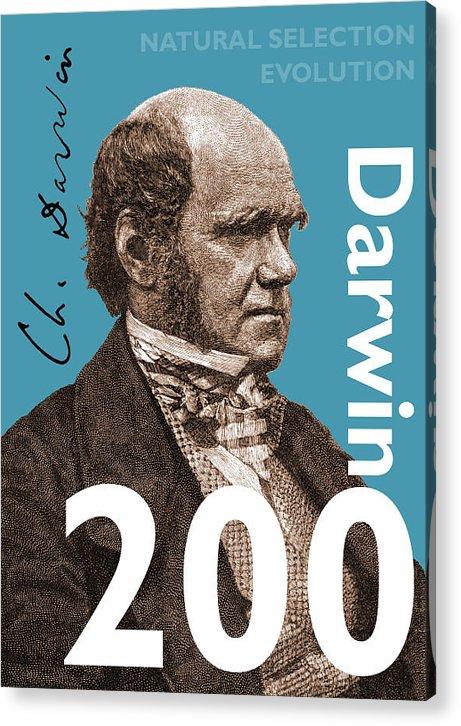 Charles Darwin Acrylic Print featuring the digital art Darwin 200 by Steve Wyburn