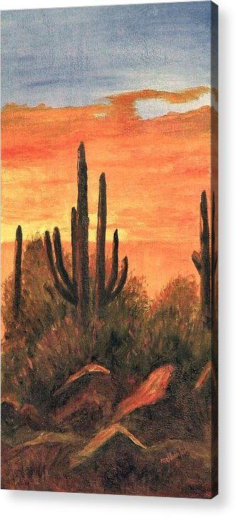 Sunset Acrylic Print featuring the painting Desert Sunset I by Merle Blair