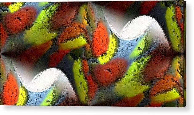 Digital Acrylic Print featuring the digital art Digital Abstract World by Ilona Burchard