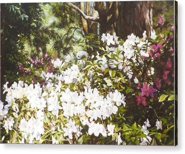 Flowers Acrylic Print featuring the painting Early April by Marion Hylton