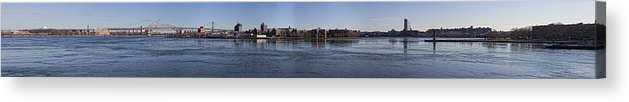 East River Acrylic Print featuring the photograph East River Panorama by Robert Ullmann