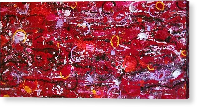 Abstract Fantasy Acrylic Print featuring the mixed media Energie Patrons 3 by Anita Dielen
