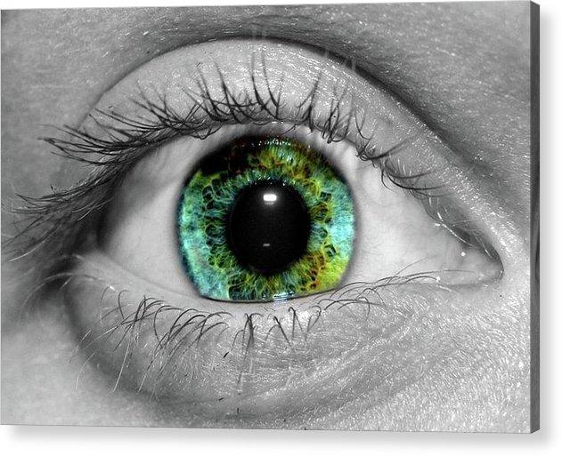 Eye Acrylic Print featuring the photograph Eyeball by Ryan Mathes