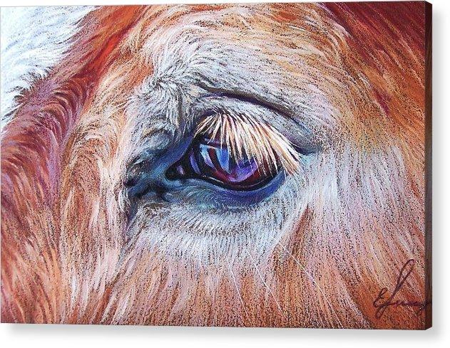 Animal Acrylic Print featuring the drawing Eyelashes by Elena Kolotusha
