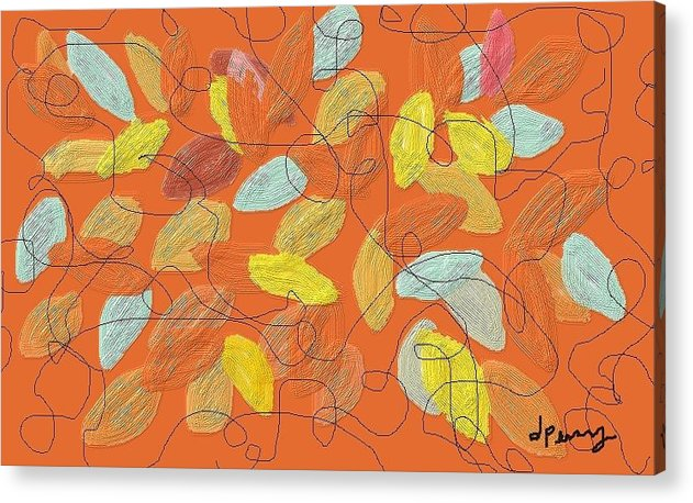 Fall Acrylic Print featuring the digital art Fall by D Perry