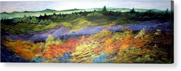 Landscape Acrylic Print featuring the painting Field Of Dreams by Rhonda Myers