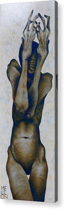 Figure Acrylic Print featuring the painting Figure Nine by Mark M Mellon