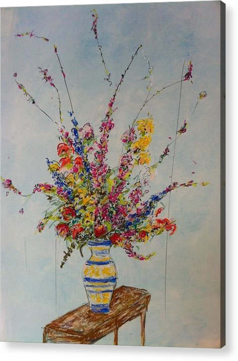Flowers Acrylic Print featuring the pastel Flowers by Marcia Nebera
