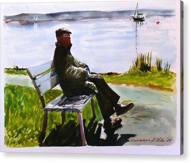 Lakeside Acrylic Print featuring the painting For My Dad - With Love by Doranne Alden
