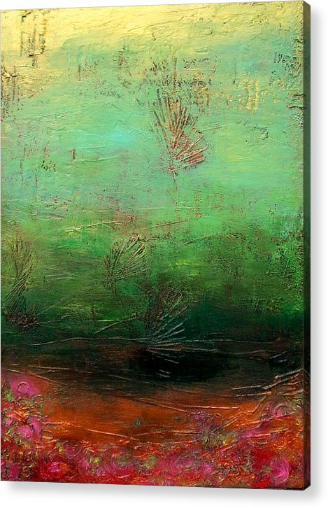 Acrylic Print featuring the painting From The Depths by Karen Fields