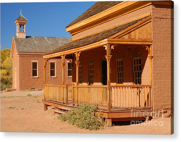 Grafton Acrylic Print featuring the photograph Grafton Ghost Town by Dennis Hammer