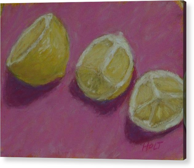 Still Life Acrylic Print featuring the painting Half And Quartered by Dolores Holt