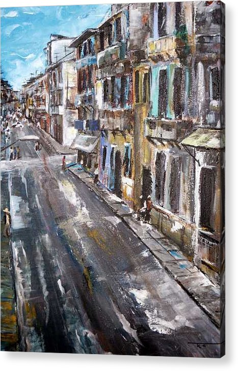 Cuba Acrylic Print featuring the painting Havana by Travis Kelley