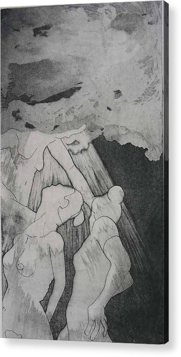 Etching Acrylic Print featuring the drawing Heaven Is by Brad Wilson