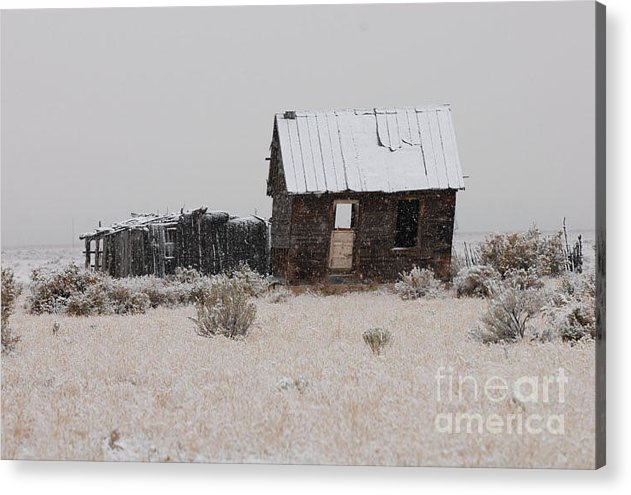 Historic Acrylic Print featuring the photograph Homestead In Winter - Circa 1856 by Dennis Hammer