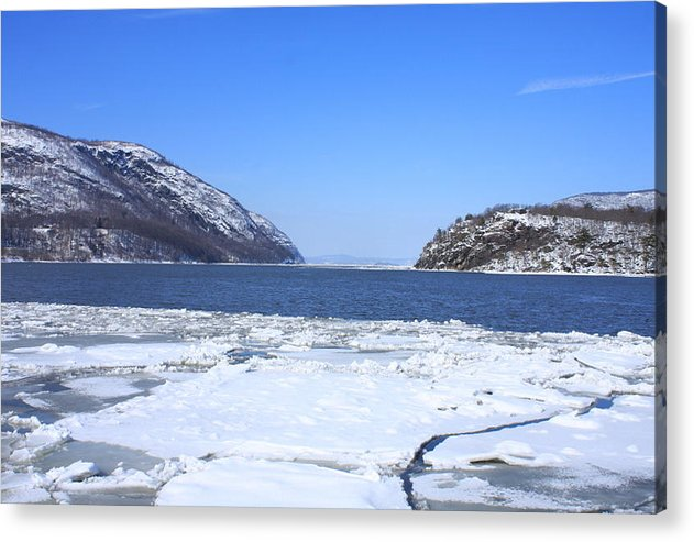 West Point Military Academy Acrylic Print featuring the photograph Ice Flow by William Rogers