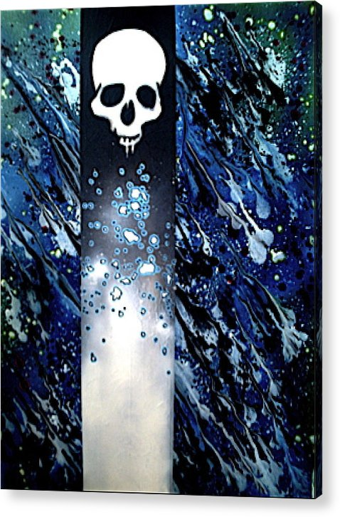 Fantasy Art Acrylic Print featuring the painting In Space by Jeff DOttavio