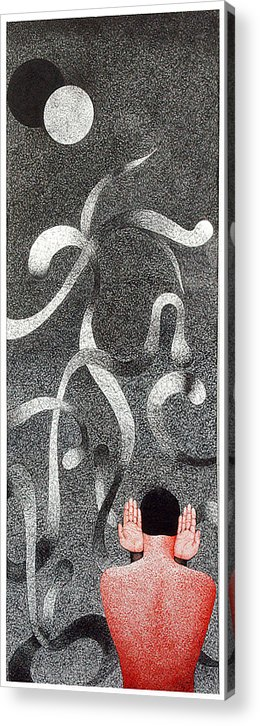 Pen And Ink Acrylic Print featuring the drawing Journey Of Life After Death by Bharat Gothwal