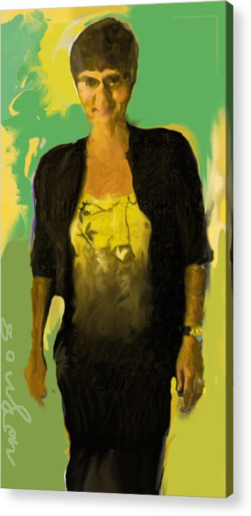 Portrait Acrylic Print featuring the painting Joyce by Noredin Morgan