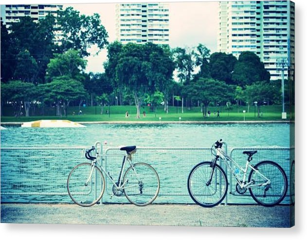 Bike Acrylic Print featuring the photograph Just The Two Of Us by Susette Lacsina