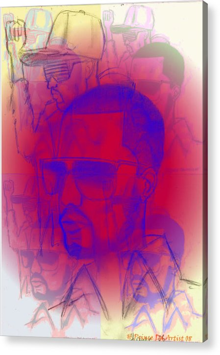 Computer Acrylic Print featuring the digital art Kanye West Swag by HPrince De Artist
