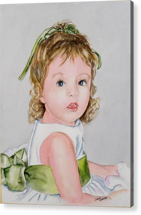 Acrylic Print featuring the painting Kathryn - Commissioned Portrait by Diane Ziemski