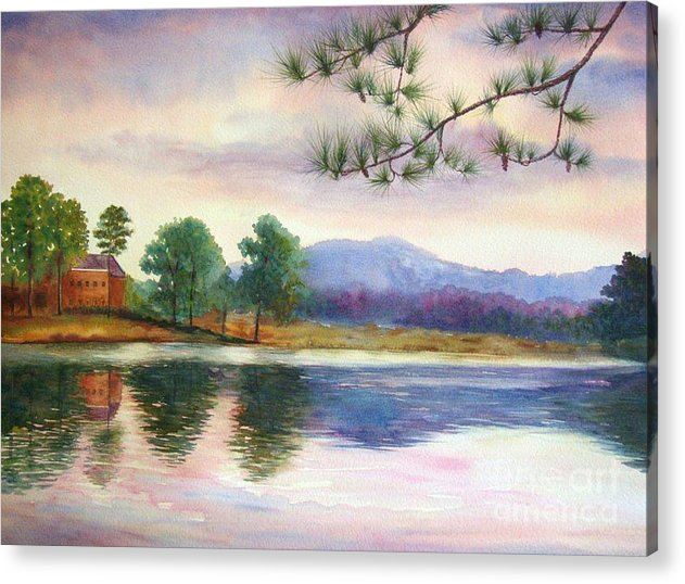Marietta Acrylic Print featuring the painting Kennesaw Mt. by Ann Cockerill