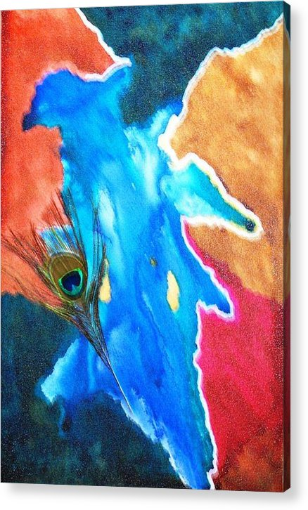 Abstract Paintings Acrylic Print featuring the painting Krish by Sangeeta Malhotra