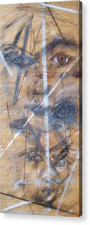 Eyes Acrylic Print featuring the painting Lack Of Vision by Cathy Minerva