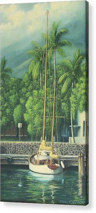Hawaii Acrylic Print featuring the painting Lahaina Harbor by Steven Welch