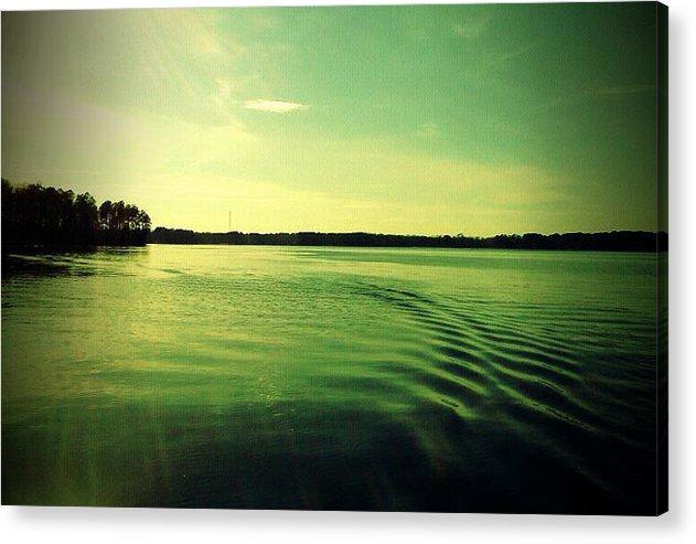 Lure Acrylic Print featuring the photograph Lake Murray Wake by Janele Wilson