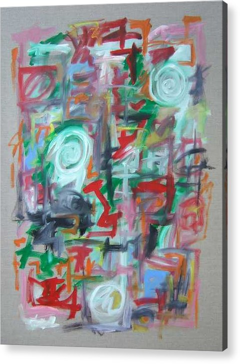 Abstract Acrylic Print featuring the painting Large Abstract No 2 by Michael Henderson