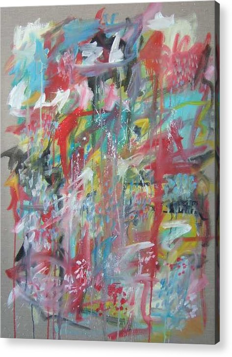 Abstract Acrylic Print featuring the painting Large Abstract No 3 by Michael Henderson