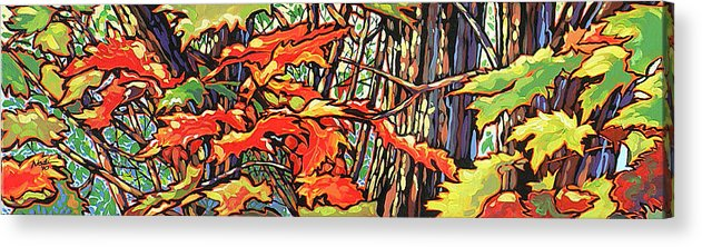 Leaves Acrylic Print featuring the painting Leaves Long by Nadi Spencer