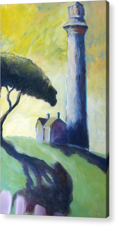 Lighthouse Acrylic Print featuring the painting Light House by Mike Segura