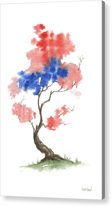 American Acrylic Print featuring the painting Little Zen Tree 291 by Sean Seal