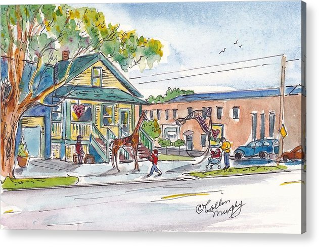 Watercolor Landscape Acrylic Print featuring the painting Love Art by Collin Murphy