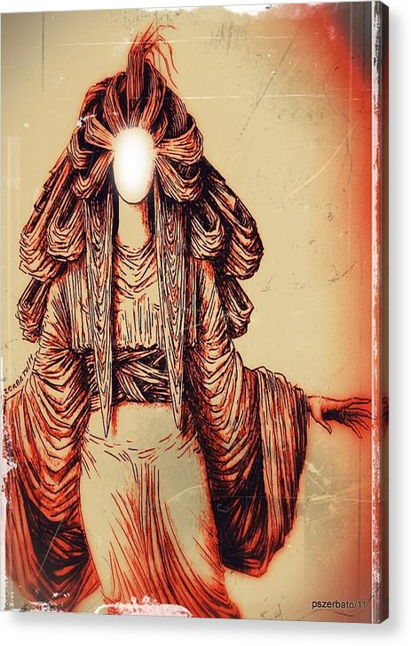 Luz Acrylic Print featuring the digital art Luz by Paulo Zerbato