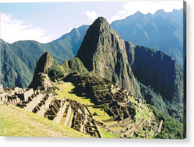 Peru Acrylic Print featuring the photograph Machu Picchu by Kathy Schumann