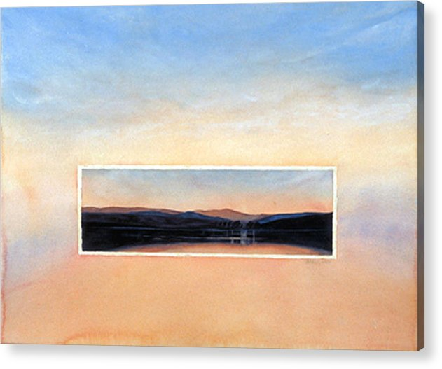 Sunset Acrylic Print featuring the painting Marin Sunset by Nancy Ethiel