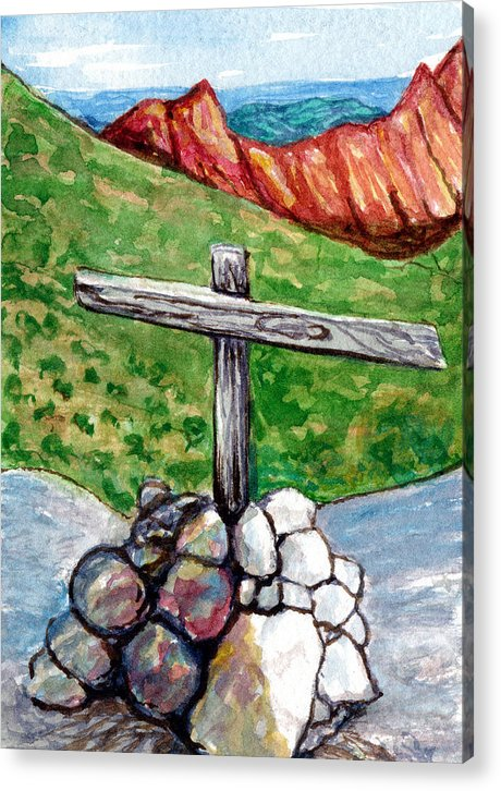 Kelso Acrylic Print featuring the painting Marker by Bonnie Kelso