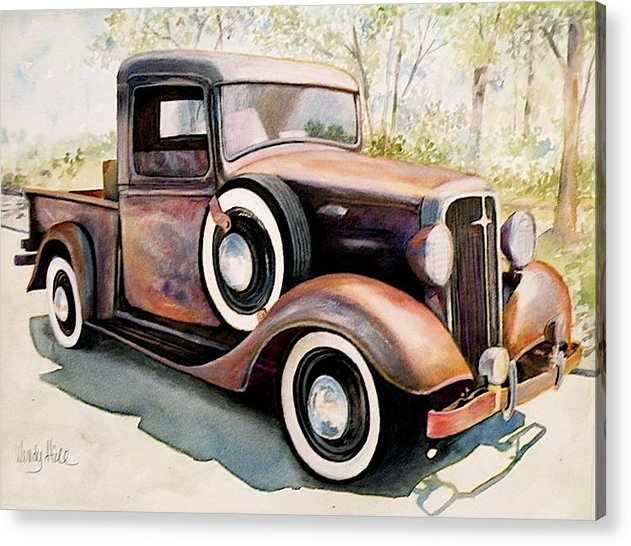Truck Acrylic Print featuring the painting Memories by Wendy Hill