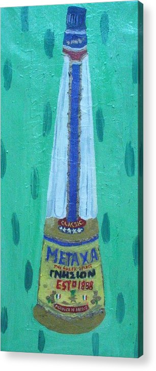 Liquor Acrylic Print featuring the painting Metaxa by Patrice Tullai