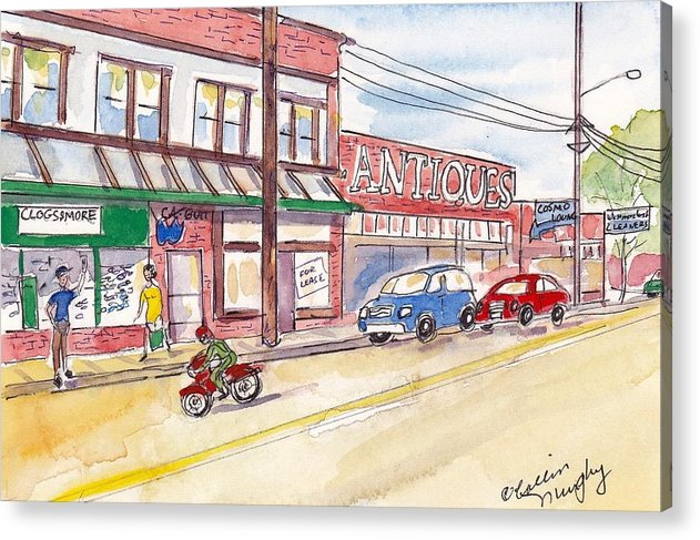 Landscape Acrylic Print featuring the painting Milwaukie Avenue by Collin Murphy